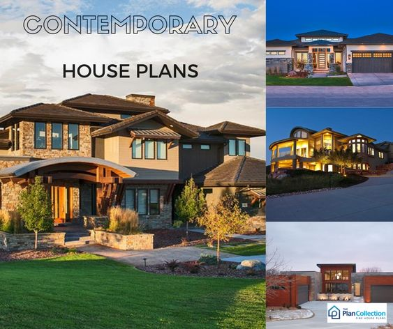 Contemporary Homes Are Still Being Built Across The Nation And Have Been A Very Popular Style Contemporary House Plans Contemporary House Home Design Plan