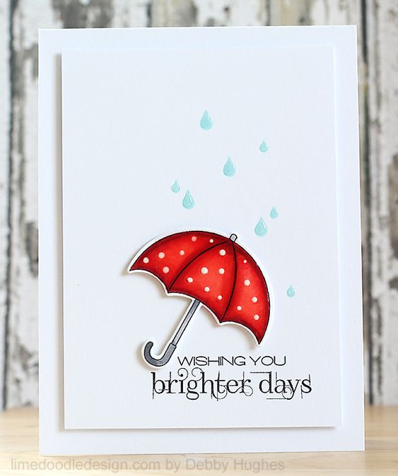 Clearly Besotted Stamps—the umbrella from the April Showers set.  Rain drops?