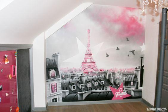 Décoration Chambre Theme Tour Eiffel Chambre Pinterest Tour - Eiffel chambre de la tour des idees de decoration