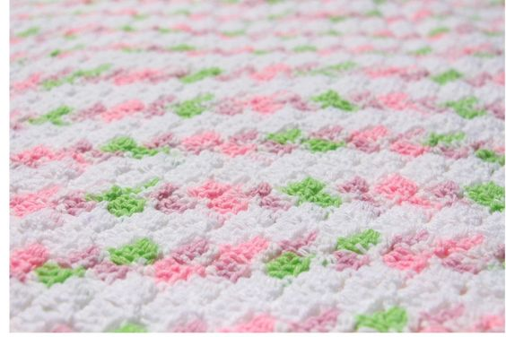 Pink Baby Blanket  Pink Crochet Baby Blanket Striped  Baby Blanket Crochet Baby Afghan Baby Girl Blanket Crochet Afghans Ready to ship (48.00 USD) by CraftCreationsbyRose