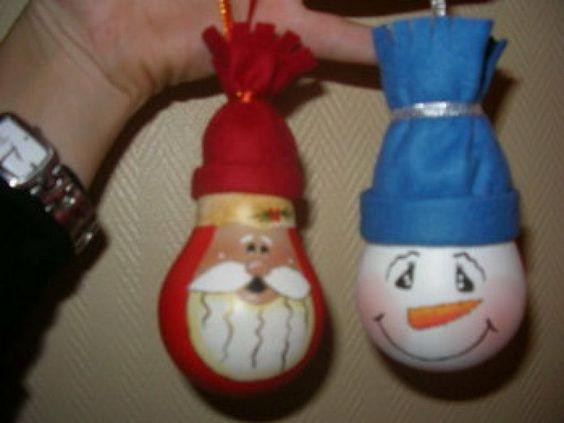 Adornos de Navidad con bombillas
