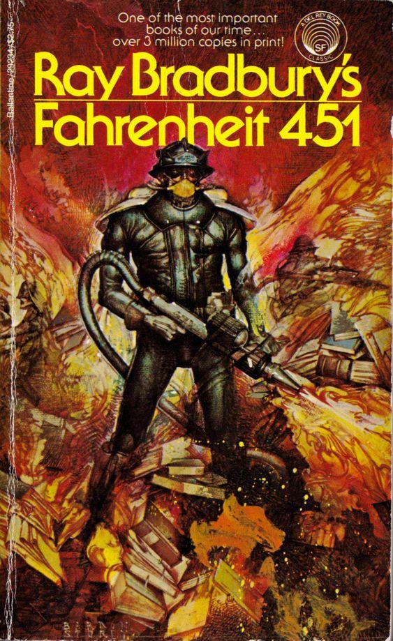 Fahrenheit 451 est un roman de science-fiction dystopique de Ray Bradbury publié en 1953 aux États-Unis chez l'éditeur Ballantine Books. Le titre fait référence au point d'auto-inflammation, en degrés Fahrenheit, du papier. Cette température équivaut à un peu moins de 233 °C. Ray Douglas Bradbury (August 22, 1920 – June 5, 2012) was an American fantasy, science fiction, horror and mystery fiction author #RayBradbury #Fahrenheit451 #Truffaut http://www.raybradbury.com/