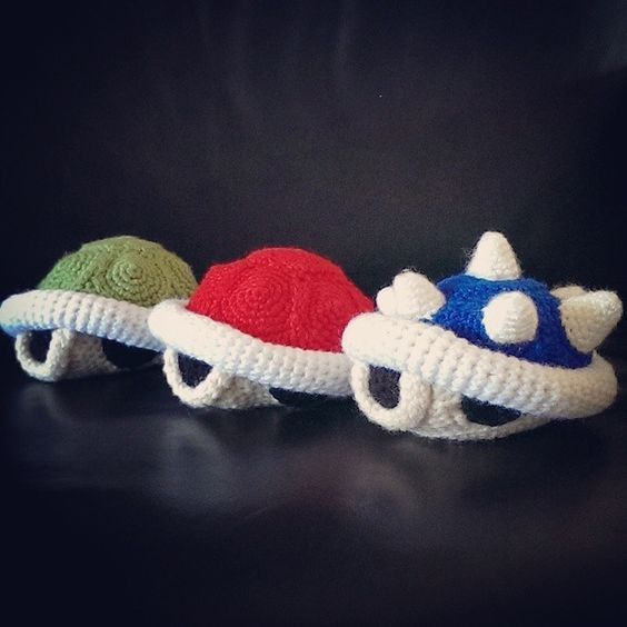 Amigurumi Super Mario Pattern : Koopa Shells (Crochet) by SirPurlGrey.deviantart.com on ...