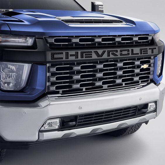 2020 Silverado 2500 Grille Black Grille With Chevrolet Script Logo Front Sjb 84468400 In 2020 Chevy Silverado 2500 Hd Silverado 2500 Silverado