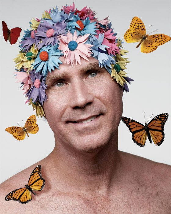 The ridiculousness of this photograph made me smile.  Love Will Ferrell.