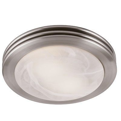Brushed Nickel Bathroom Vent Fan Light