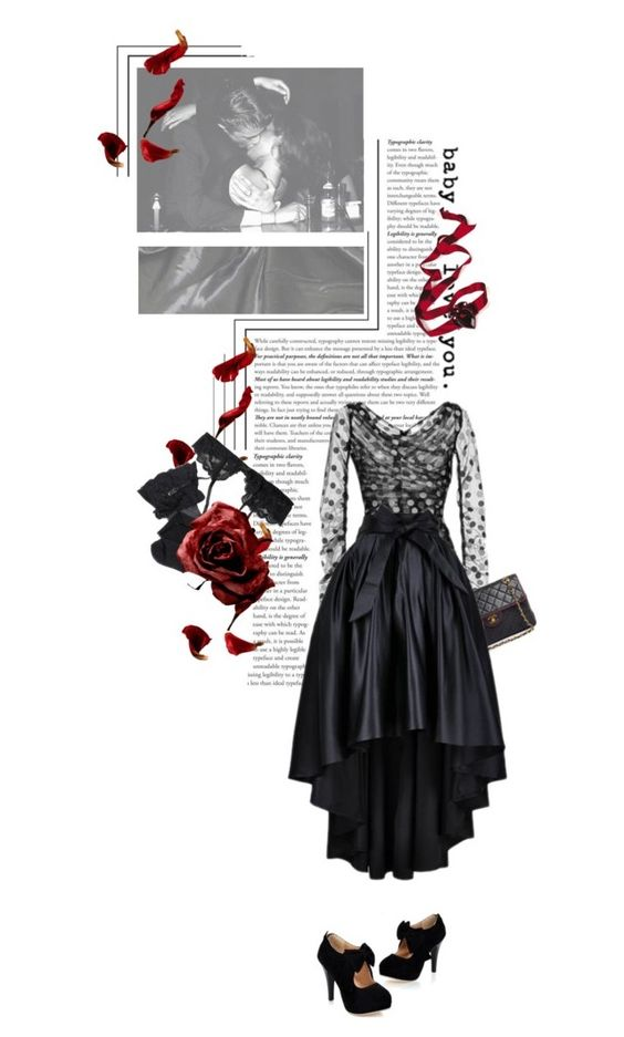 """Little black dress -  I love you still"" by sherazade ❤ liked on Polyvore featuring Dolce&Gabbana, Chanel, Reger by Janet Reger and Christian Dior"
