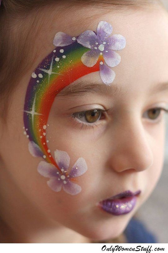 Only Women Stuff A Blog About Beauty Fashion Health Girl Face Painting Face Painting Designs Rainbow Face Paint