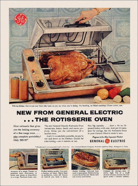 New From General Electric...the Rotisserie Oven! #vintage #1950s #. Kitchen  Utensils AppliancesAppliances ...
