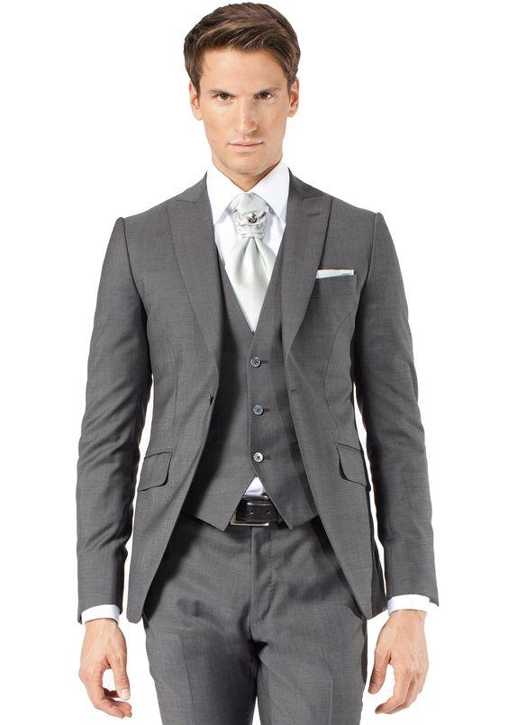Costume 3 pièces gris moyen | Jean De Sey, costumes de mariage pour homme et accessoires