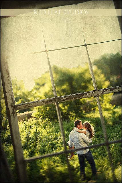 This would be fantastic on an engagement shoot around an old building. - or with the use of old window