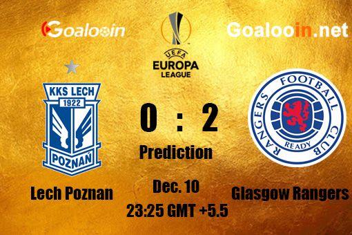 Uefa Europa League Lech Poznan Vs Glasgow Rangers Lech Poznan Livescore Soccer Europa League