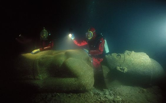 Lost city of Heracleion gives up its secrets   A lost ancient Egyptian city submerged beneath the sea 1,200 years ago is starting to reveal what life was like in the legendary port of Thonis-Heracleion   The Telegraph