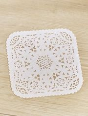 4inch Square Shaped Paper Doily (30 sheets)