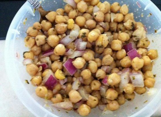 Cumin Lime Chickpeas:  I used only one can of chickpeas and added 2 ears corn off the cob and a tomato.  I also didn't cook the chickpeas.