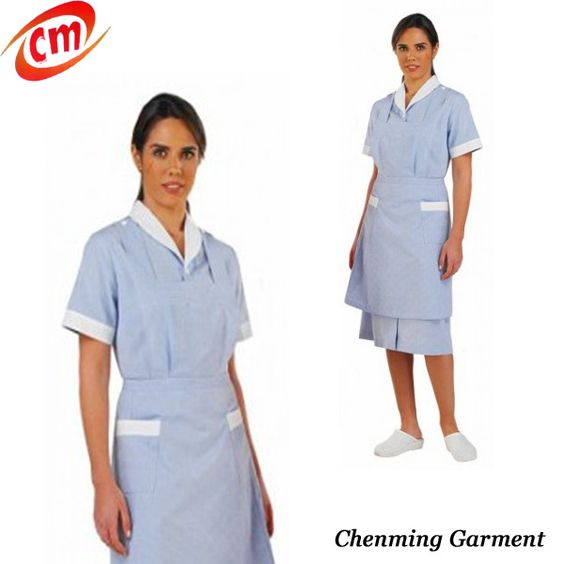 Hotel uniform housekeeping and cotton on pinterest for Spa housekeeping uniform
