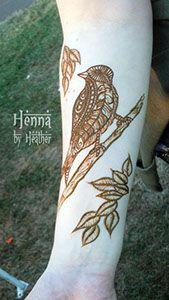 Bird henna design - Henna by Heather