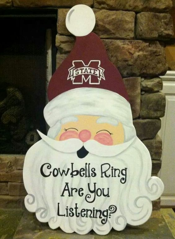 Cowbells ring. Are you listening? Hail State Santa