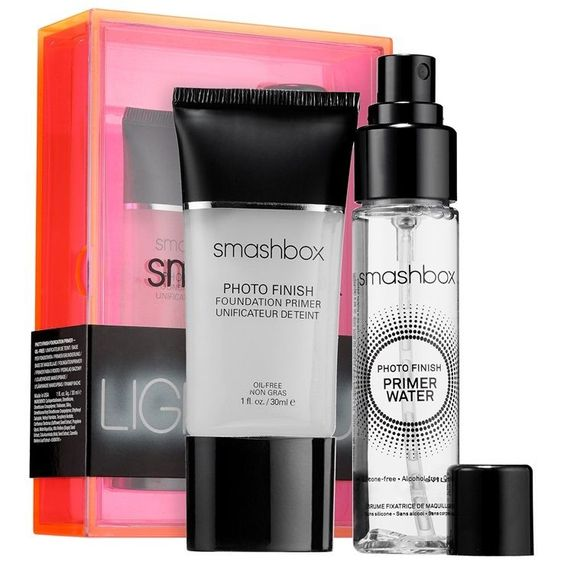 New SMASHBOX Light It Up Primer Set - Photo Finish Primer & Primer Water BNIB