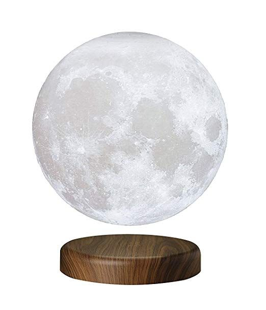 Amazon Com 7 1 18cm Leviluna Magnetic Levitating Moon Lamp Unibody Seamless 3d Printing Pla Material Floating Cool Things To Buy Levitation Office Gadgets