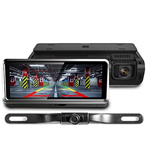 Sony IMX335 Starvis Sensor Lttrbx 10 2.5K Mirror Dash Cam Backup Camera for Cars with Full Touch Screen Front and Rear Dual Lens IPX7 Waterproof WDR Night Vision Parking Monitor