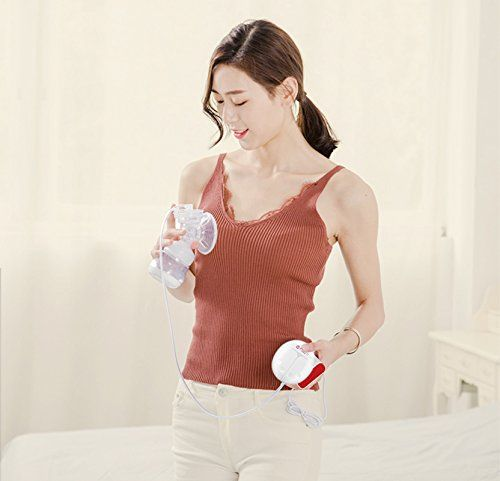 Electric Double Breast Pump Automatic Nipple Suction Feed Pump Baby Push-Button