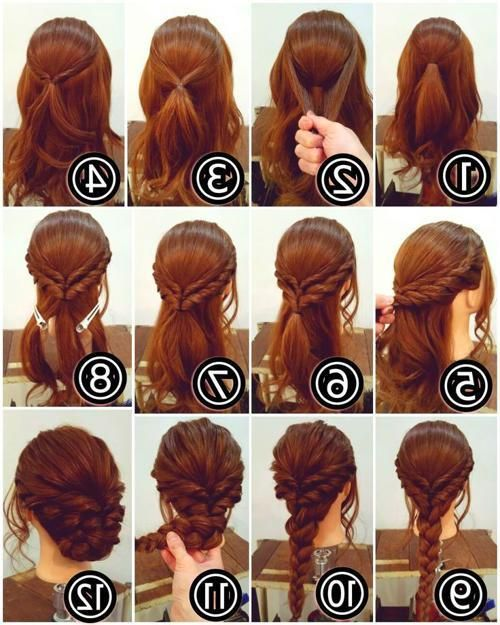 Easy Updos For Medium Hair Pinterest Hair Long Hair Styles Hair Updos