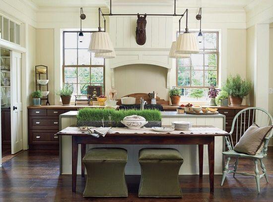 101 Modern Farmhouse Design Ideas Farmhouse Goals Southern Living Homes Home Kitchens Kitchen Island Table