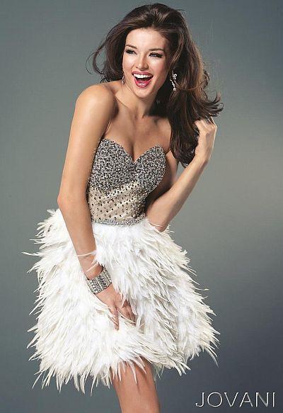 $899.99 Jovani 4484 White Short Cocktail Dress at frenchnovelty ...