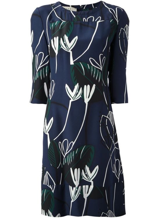 Dress MARNI EDITION   #inthegarden #flowers #trend #woman à#apparel #accessories #style #fashion #spring #summer #collection#marni