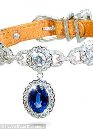 Royalty: The Amour De La Mer features 600 hand-set diamonds and an 8.5-carat sapphire and must make any pet feel like a prince
