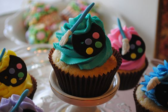 Artist Cupcakes by DixieBelleCupcakeCafe, via Flickr