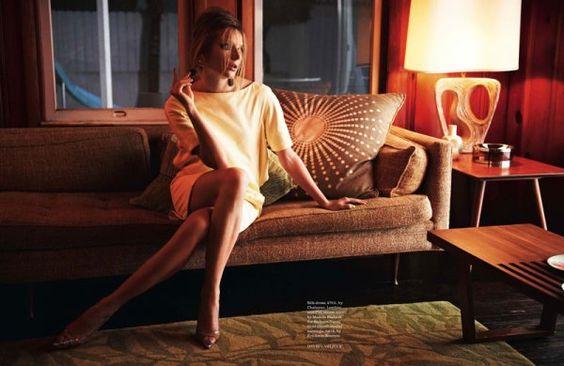 """""""Venus Rising""""  Ieva Laguna, é a estrela do editorial fotografado por Davis Vasiljevic para a Elle UK, Maio 2012. Confira:"""