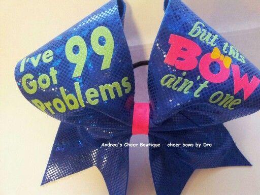 I love cheer and cheer bows.