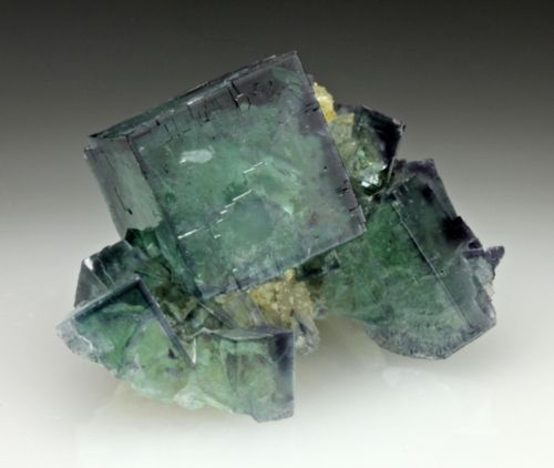 Fluorite with Quartz - China