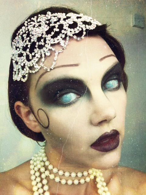 Great Gatsby Zombie Halloween Makeup Watch the tutorial on my ...