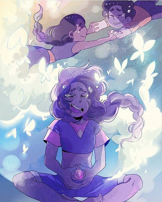 I'm still not over here comes a thought ;-; - Art Credit to sumimimimi - #stevenuniverse #stevonnie