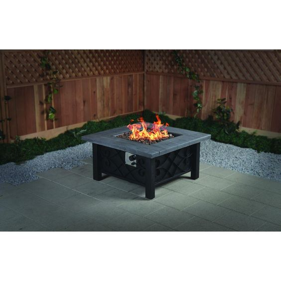 fire table natural looks and the heat on pinterest. Black Bedroom Furniture Sets. Home Design Ideas