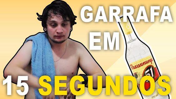 ▶ VIRANDO UMA GARRAFA DE 51 em 15 SEGUNDOS!!! - GUSTAVO HENRIQUE - YouTube