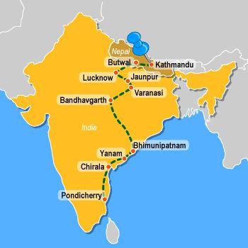 Map India Pondicherry Google Search Summer Reading Life Of Pi - Pondicherry map