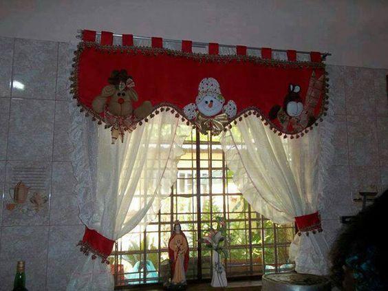 Cenefa navide a pintura en tela pinterest for Buscar adornos de navidad