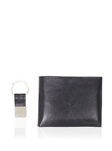 New Calvin Klein Mens Black Leather Passcase W/Key Flob Bifold Wallet Calvin Klein. $19.97
