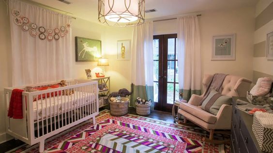 Take a short video tour of this @Anthropologie inspired nursery for #babygirl!