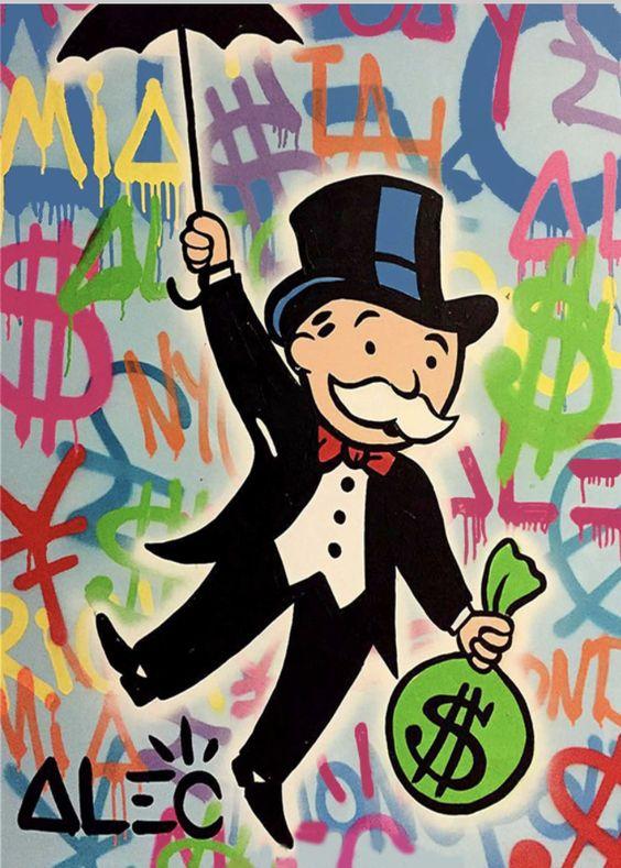 Alec Monopoly Monopoly Mann auf Leinwand selber machen