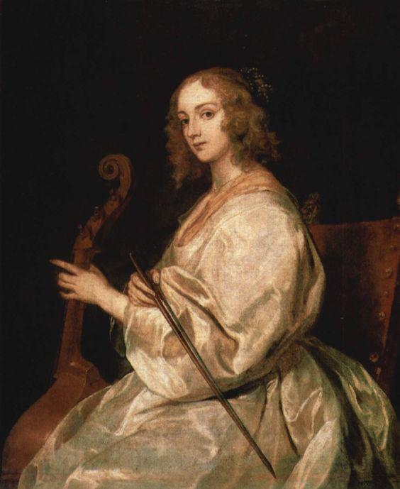 Porträt der Mary Ruthven (Van Dyck's wife) , Gattin des Künstlers  - Anthony van Dyck (1599–1641)