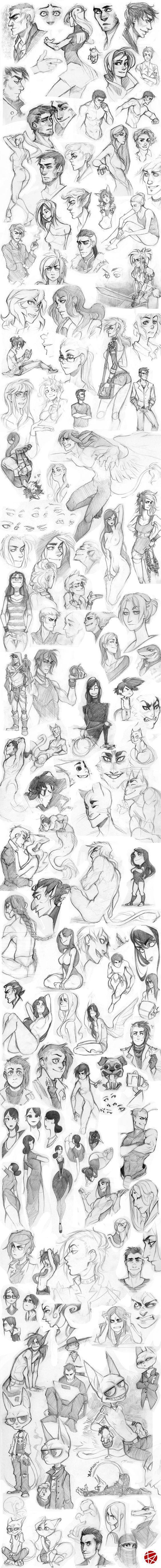 Sketch dump 01 by SylwiaPakulska on deviantART