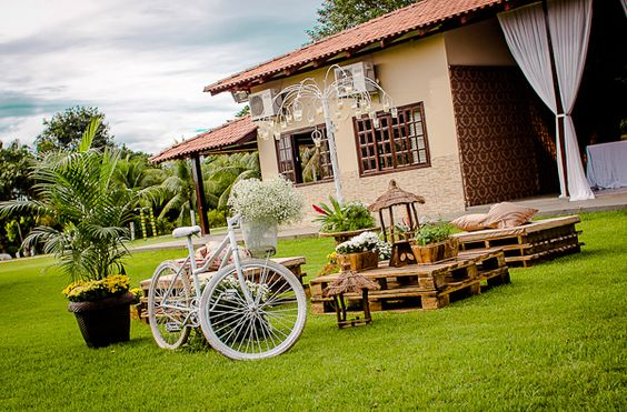 decoração casamento no campo