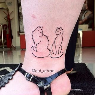 tattoo gato e cachorro juntos - Pesquisa Google