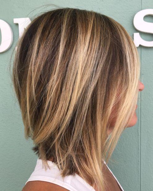 Easy Inverted Lob Hairstyle Hair Styles Medium Layered Haircuts Long Thin Hair
