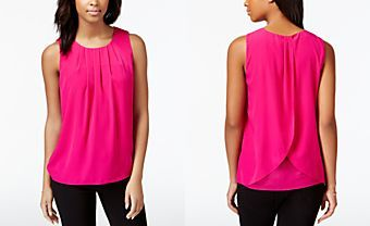 Maison Jules Solid Tulip-Back Top, Only at Macy's